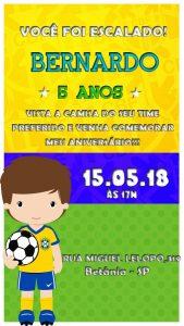 convite de futebol brasil