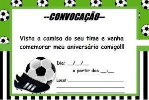 convite de futebol para imprimir