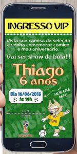convite de futebol on line