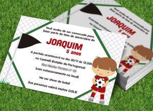 convite de futebol infantil