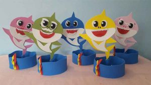 lembrancinha baby shark simples