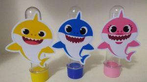 lembrancinha baby shark tubete