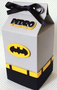 lembrancinha de batman caixa de leite