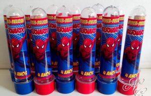 lembrancinha homem aranha tubete