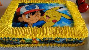 Bolo Pikachu Papel arroz