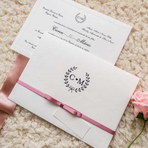 Convite casamento rústico Editável