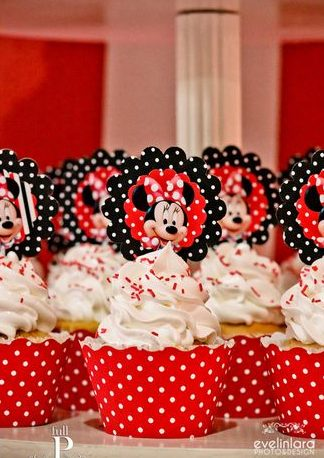 cupcake minnie Com Topper