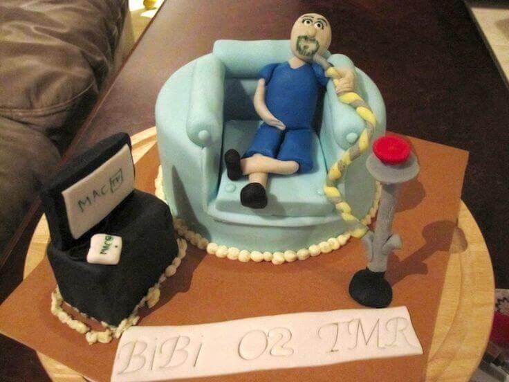 bolo de aniversário Engraçado