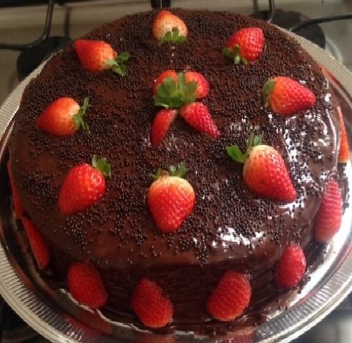 bolo de aniversário Chocolate