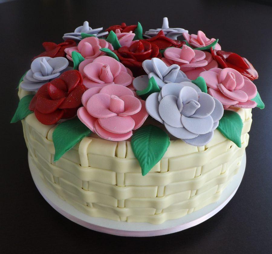 bolo de aniversário Flores