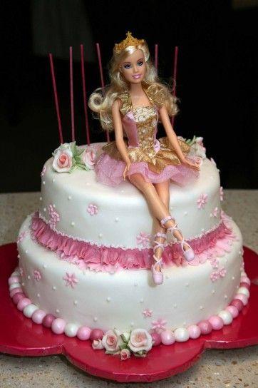 Bolo boneca Barbie