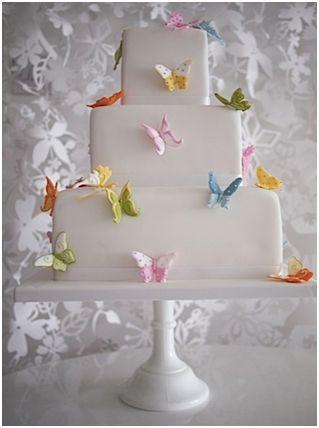 bolo borboleta Coloridas