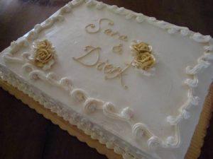 bolo de casamento simples Quadrado