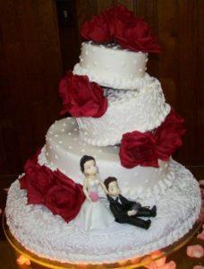 bolo de casamento simples Chantilly