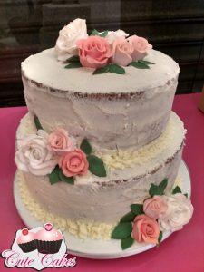 bolo de casamento simples Glacê
