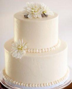 bolo de casamento simples 2 Andares