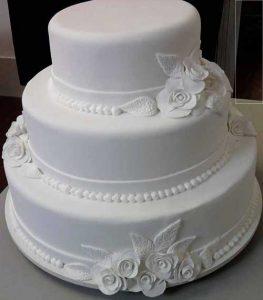 bolo de casamento simples 3 Andares