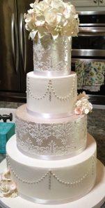 bolo de casamento luxo