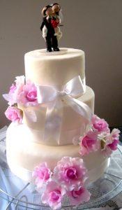 bolo de casamento redondo