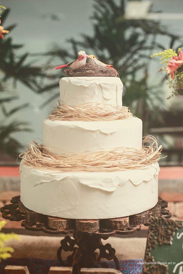 bolo de casamento rustico Fake