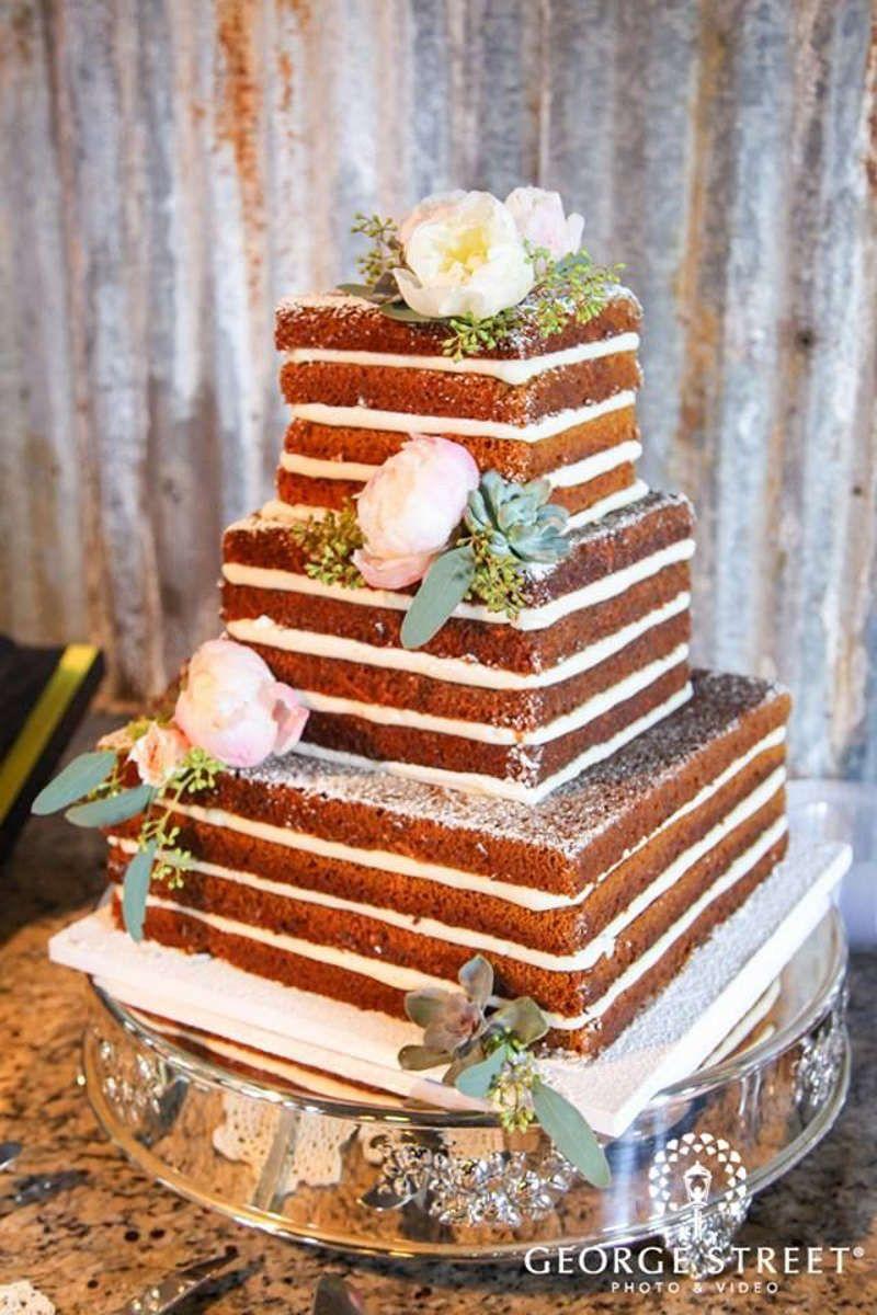 bolo de casamento rustico Quadrado