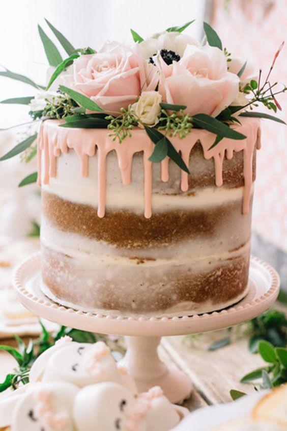bolo de casamento rustico Romântico