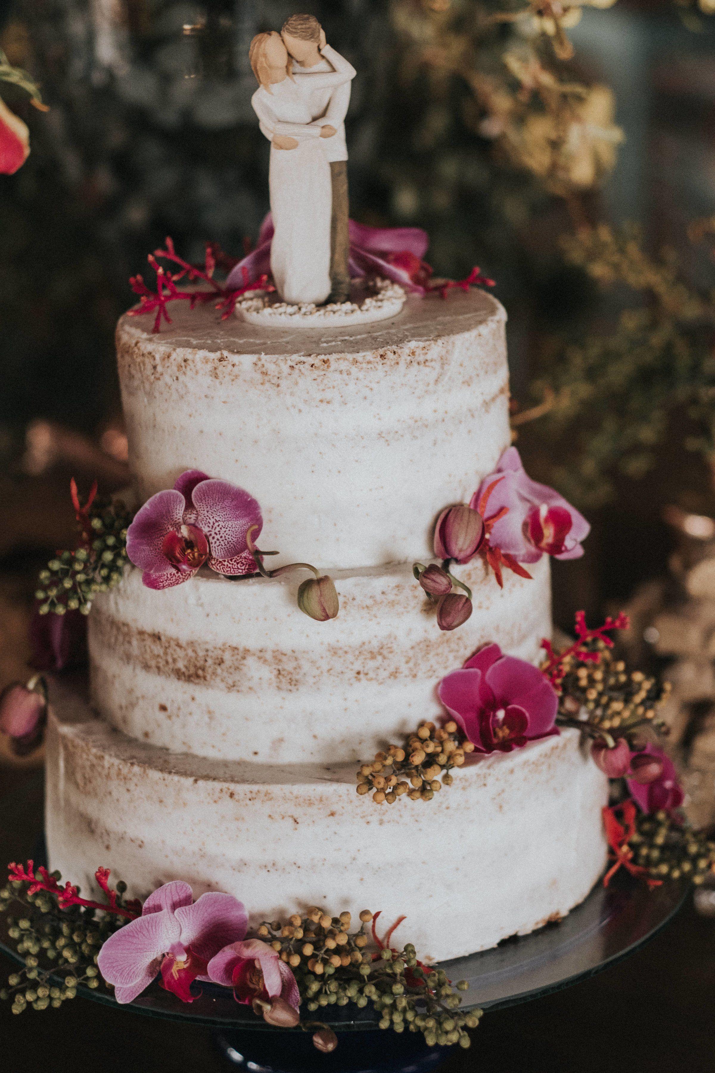 bolo de casamento rustico Topo
