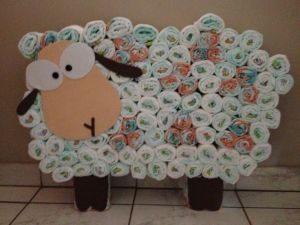 bolo de fraldas ovelha