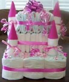 bolo de fraldas castelo