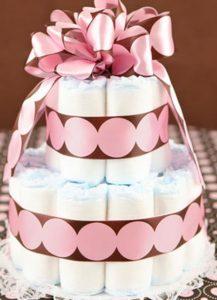 bolo de fralda pequeno