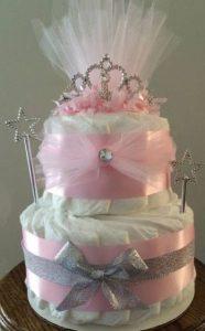 bolo de fraldas princesa