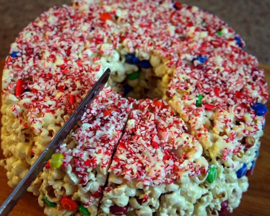 bolo de pipoca Colorido