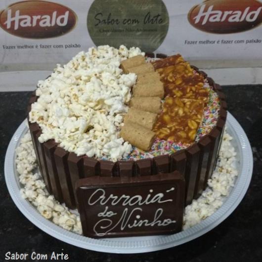 bolo de pipoca De Chocolate