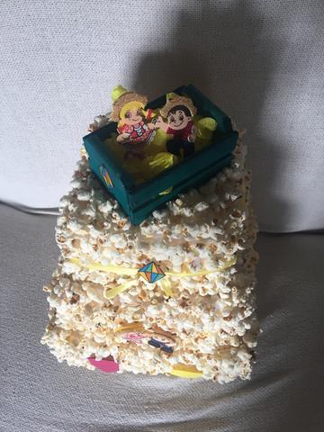 bolo de pipoca Quadrado
