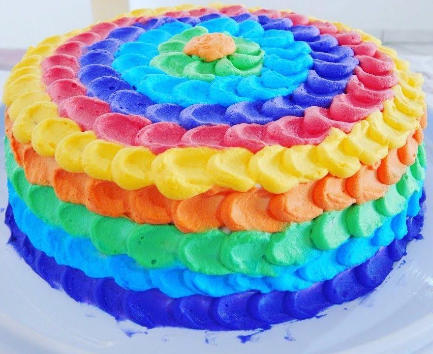 bolo espatulado Colorido