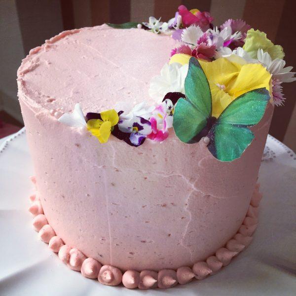 bolo espatulado Com Flores