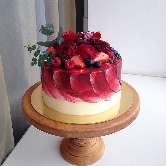 bolo espatulado Com Frutas