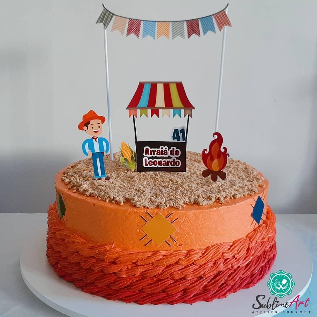 Bolo festa junina Chantininho