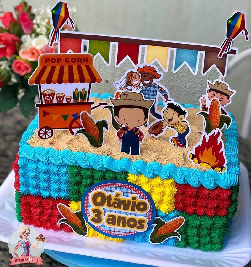 Bolo festa junina Infantil