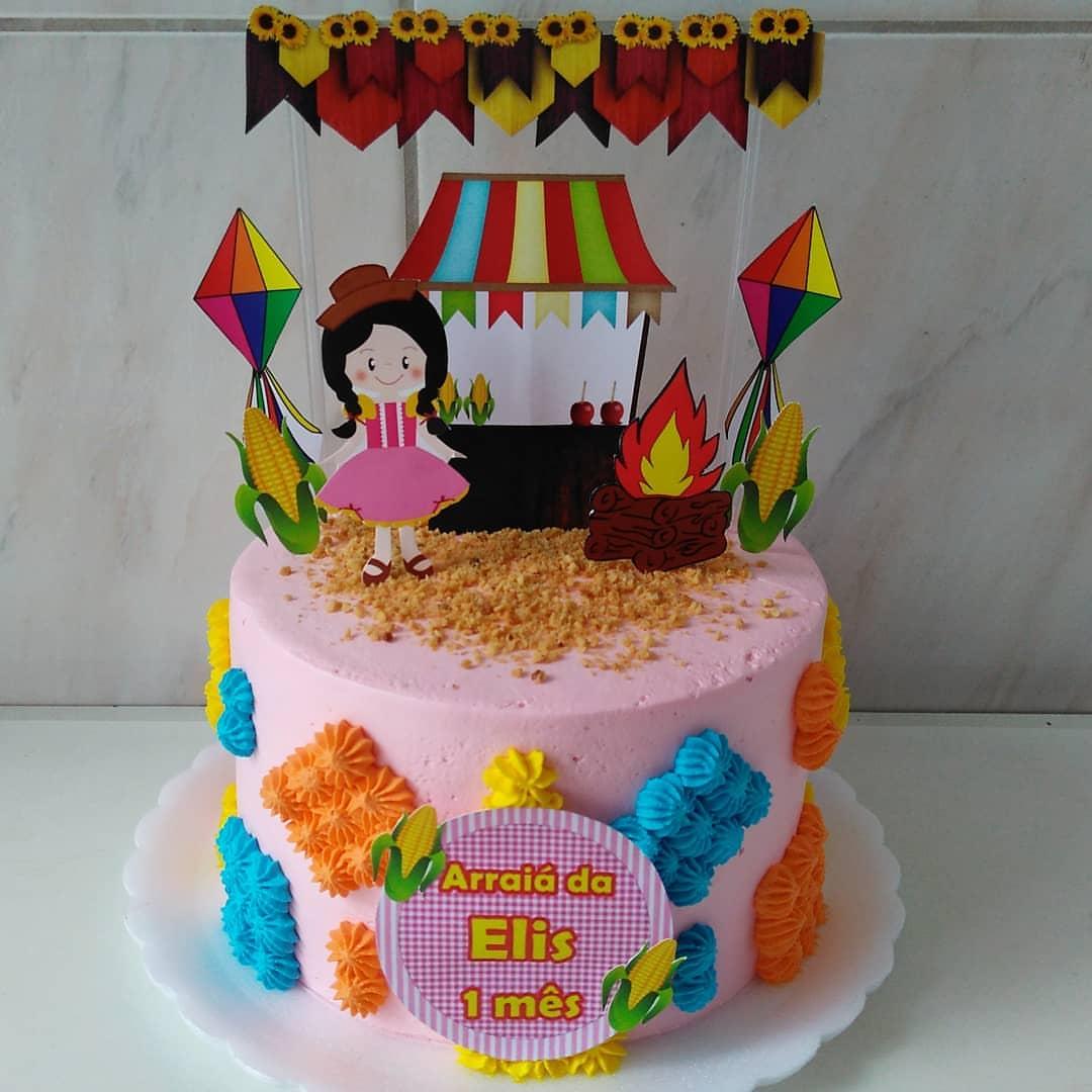 Bolo festa junina Mesversário