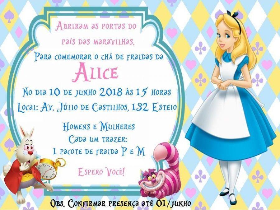 Convite Alice No Pais Das Maravilhas 60 Lindos Modelos