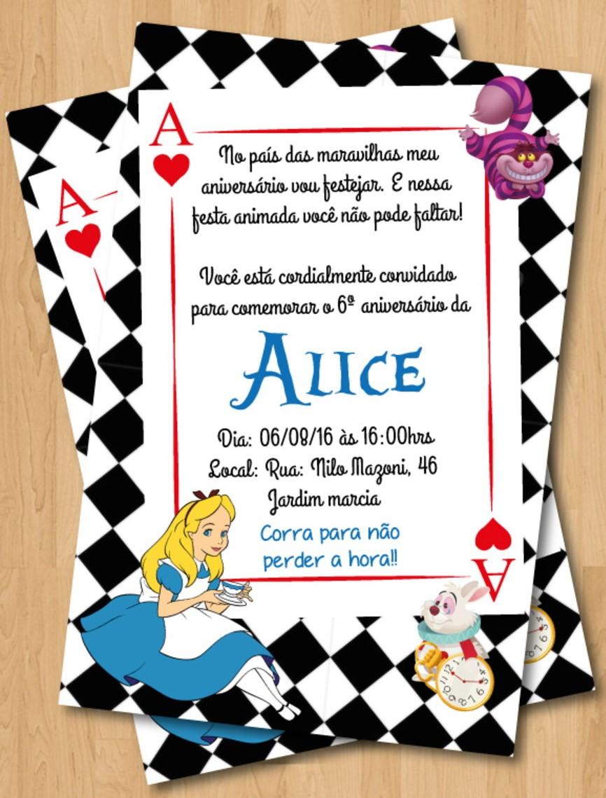 Alice Nos Pais Das Maravilhas Filme Online convite alice no país das maravilhas: 60 lindos modelos!