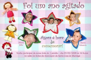 convite aniversário infantil Personalizado