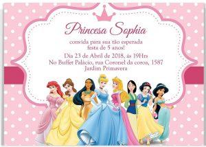 convite aniversário infantil Feminino