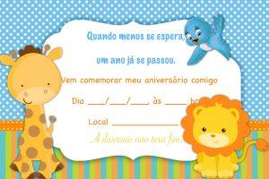 convite aniversário infantil Editável