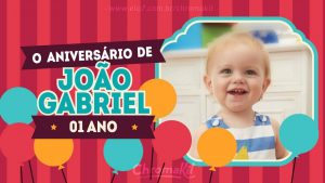 convite aniversário infantil Virtual
