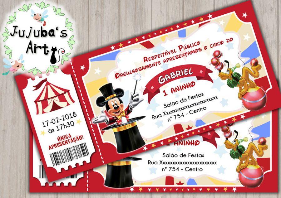 convite circo Mickey