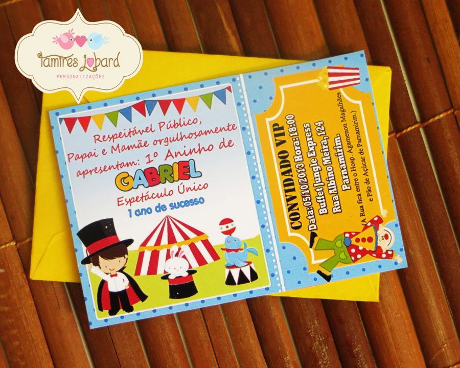 convite circo Ingressoconvite circo Ingresso