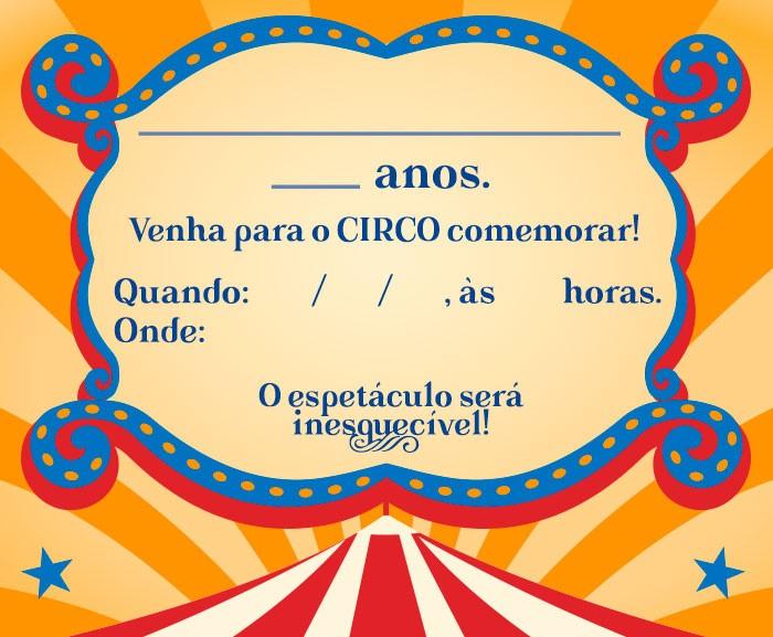 convite circo Editar