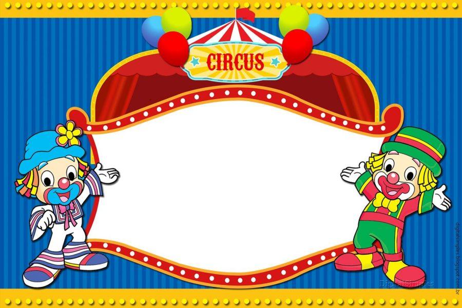 convite circo Imprimir